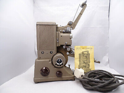 Vintage SPECTO 500 Dual 8mm &  16mm Projector with Case. Bulb Working!