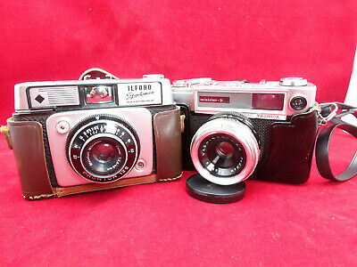 2 x Vintage 35mm Cameras. Yashica Minister D and Ilford Sportsman