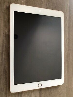 Apple iPad 6th Gen 128GB, Wi-Fi 9.7in - Gold With Case. SCREEN FAULTY SEE DESC**