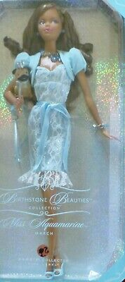Barbie Miss Aquamarine March African American Birthstone Beauties L7574 Pug Nrfb