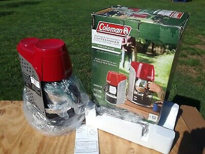 Coleman Portable Instastart Propane Camping CoffeeMaker Red & black 10cup