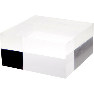 """Plymor Clear Polished Acrylic Square Display Block, 4"""" H x 8"""" W x 8"""" D"""