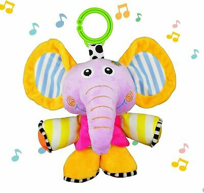 JAMSWALL Music Elephant Plush Toy, Baby Stroller/Bed/Crib Hanging Toys - NEW