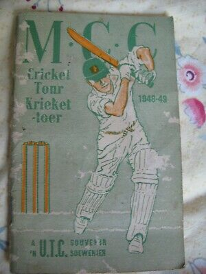 MCC Cricket Tour South Africa 1948-49 Booklet