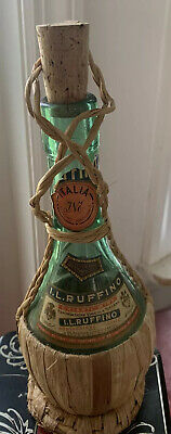 Vintage 1953 I.l.ruffino Chianti, Wine Bottle In Raffia Basket Rare Empty!