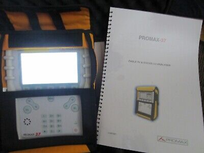 Promax 37 Docsis 3.0 CABLE TV ANALYSER BARGAIN PRICE-