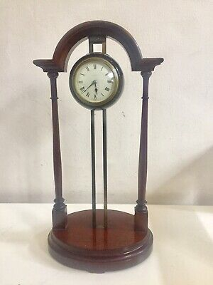Rare Antique French Two Pillars 8 Days Gravity Clock C1890!