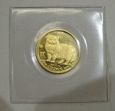 Isle of Man - 1989 - 1/25 oz. Gold Persian Cat Coin - Sealed