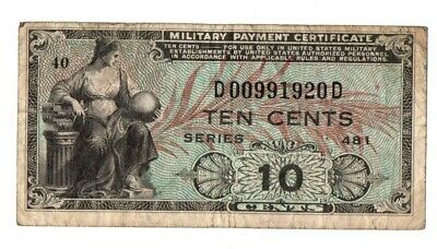 Military Payment Certificate    10 Cents