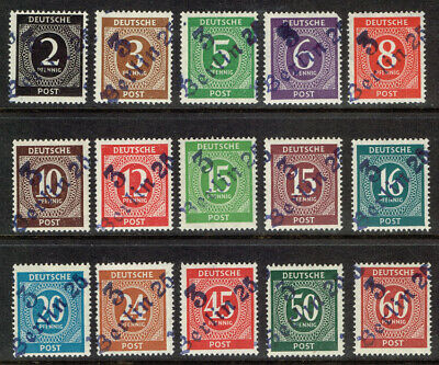 Germany Scott#531//552 Mint Never Hinged With Local Berlin 3 Overprint