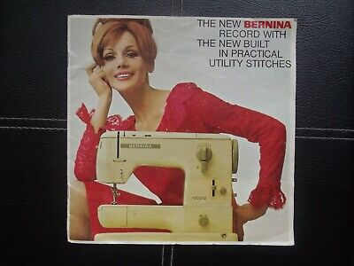 Bernina Record sewing machine Sales brochure 1960's