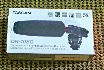 Tascam DR-10SG Camera-Mountable Audio Recorder with Shotgun Microphone - NEW