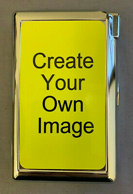 Custom Create Your Own Image Cigarette Case with lighter ID Holder Wallet
