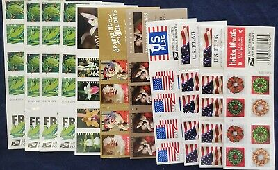 220 various US forever postage stamps, an actual value of $121.00.