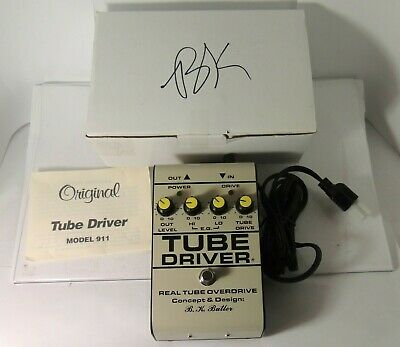 BK Butler Tube Driver 12AX7 Overdrive Effect Pedal 5-Knob w/Bias Model 911