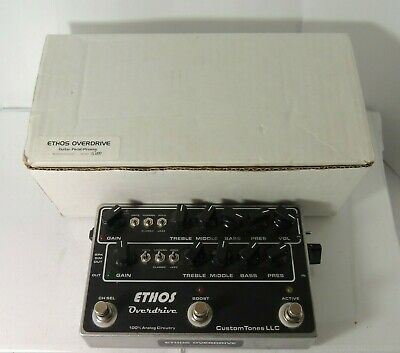 Custom Tones Ethos Overdrive Preamp FX Pedal w/TLE Switch Original Box & Adapter