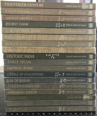 TIME-LIFE: GREAT AGES OF MAN Near Complete 18 Volume History Set: HARD-COVER LOT