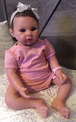 19 Inch Reborn Girl Doll Baby Weighted Around 4lbs.