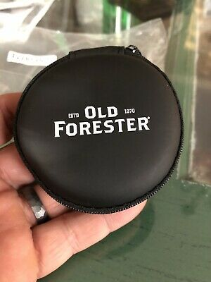 Old Forester Bourbon Whiskey Ear Buds And Usb Charger In Case. New