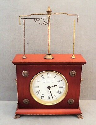 Vtg Pat. 1883 JEROME & CO German HOROLOVAR Flying PENDULUM Mantel CLOCK - Works