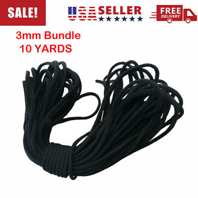 """1/8"""" 3mm Round Elastic Band Cord Ear hanging Sewing Crafts DIY Material 10 Yards"""