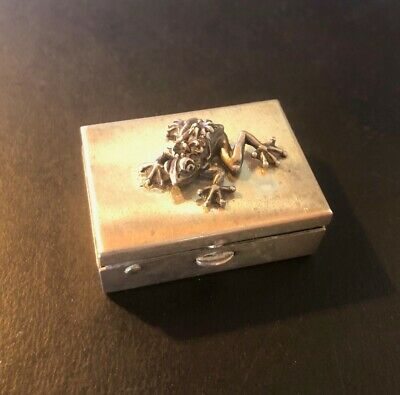 Sterling Silver Frog Pill Box