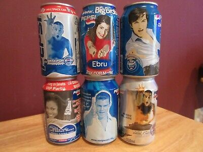 6 Pepsi World Famous Singers Foriegn Collectible Cans - Janet Jackson