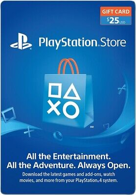 PSN US 10$ 25$ Gift card Us Account (delivered via Email )