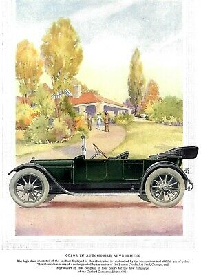 1913  Antique Four Color Art Print for the Garford Co Catalog Elyria Ohio NM