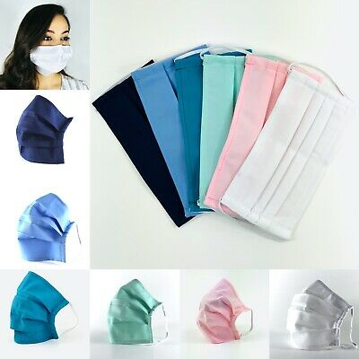 Washable & Reusable Face Mask with double layer - 4 Pack