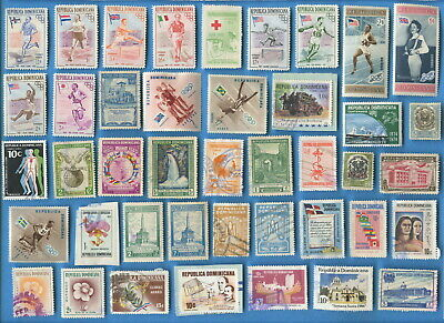 Dominican Republic and Guatemala stamps 200 different all types [sta2489]