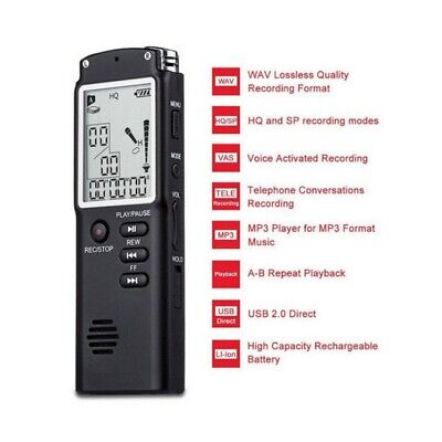 Digital Voice Activated Recorder Pen T60 LCD Audio Recorder Dictaphone MP3 Play