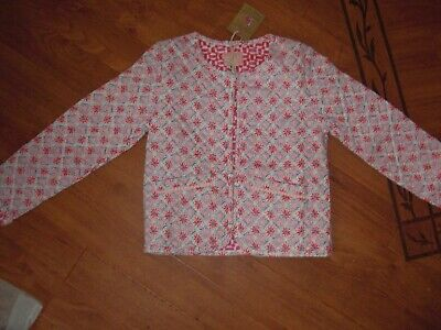 Bnwt Girls Joules Bibi Cream Mosaic Quilted Jacket Age 6 Yrs.rrp £36.95