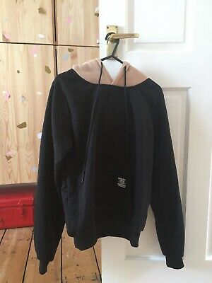 BNWT Cool Black Zaful Hoodie with contrast hood for girls Small (age 10-11)