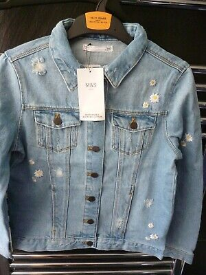 M&S Girls Daisy Denim Jacket Aged 10-11 Years.BNWT. MARKS AND SPENCER