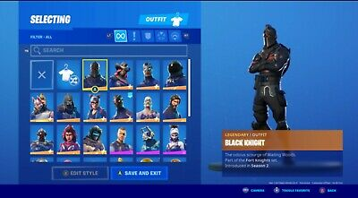 Stacked OG fortnite account skins Black Knight, Mako glider. and much more!!
