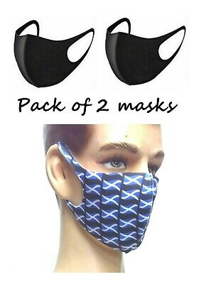 Pack of 2 Face Masks. Washable & Reusable. UK Stock. Fast Delivery!
