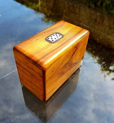 Olive Wood Playing Card Box