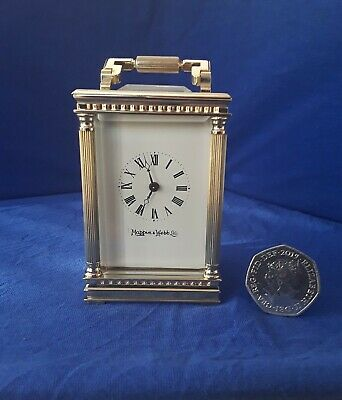 Superb Vintage miniature Carriage Clock From The London Retailer Mappin & Webb