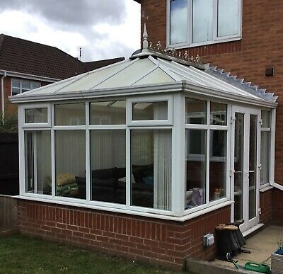 UPVC Edwardian Consevatory 3mw x 3.6l with polycarbonate roof