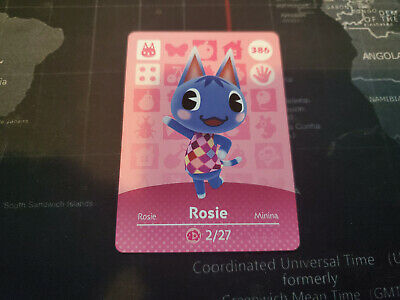 Animal Crossing New Horizons Amiibo Card: #386 Rosie *NEW* Never Scanned