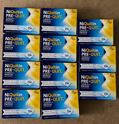 6 x Niquitin Pre-Quit Step 1 21mg 24 Hour Clear Patches 7 Days Brand New