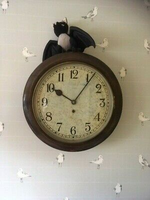 Vintage White Dial Clock. Good Working Order