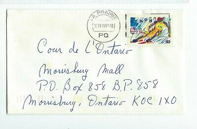 BN31 cover with stamp from La Prairie Quebec to Morrisburg Canada