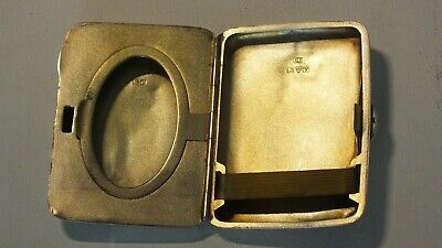 Solid Silver Cigarette/Photo Case Very Rare Chester 1921 by Colen Hewer