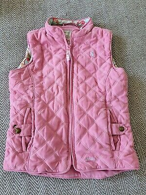 Joules Girls Pink Gilet - 7 Years