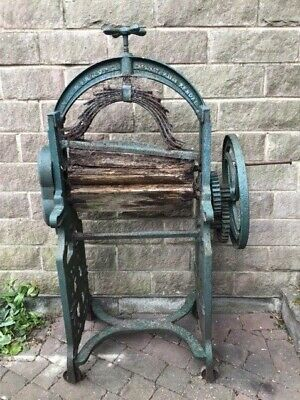 Vintage Cast Iron Mangle / Printing Press
