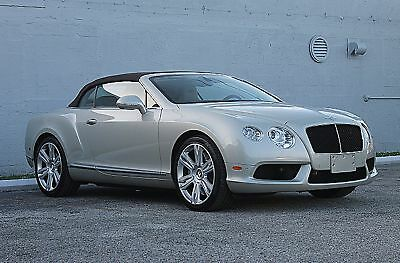 2013 Bentley Continental GT V8 GTC GTC V8 LOW MILES STUNNING COLOR CARFAX CERTIFIED 13 SERVICE RECORDS