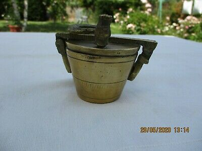 Antique French Apothecary Bronze Chemist Nesting Cup Weights Pharmaceutical