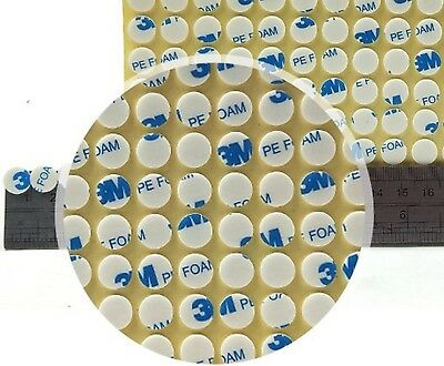 White 3M PE FOAM PADS, Self Adhesive Sticky DOUBLE SIDED DOTS, 3D Scrapbook Tape